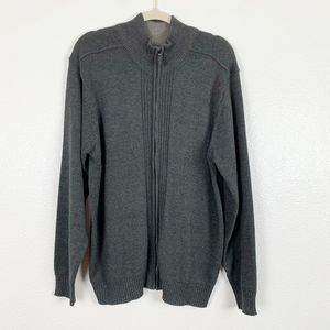 Tricot St Raphael Knitted Full Zip Pleated Sweater